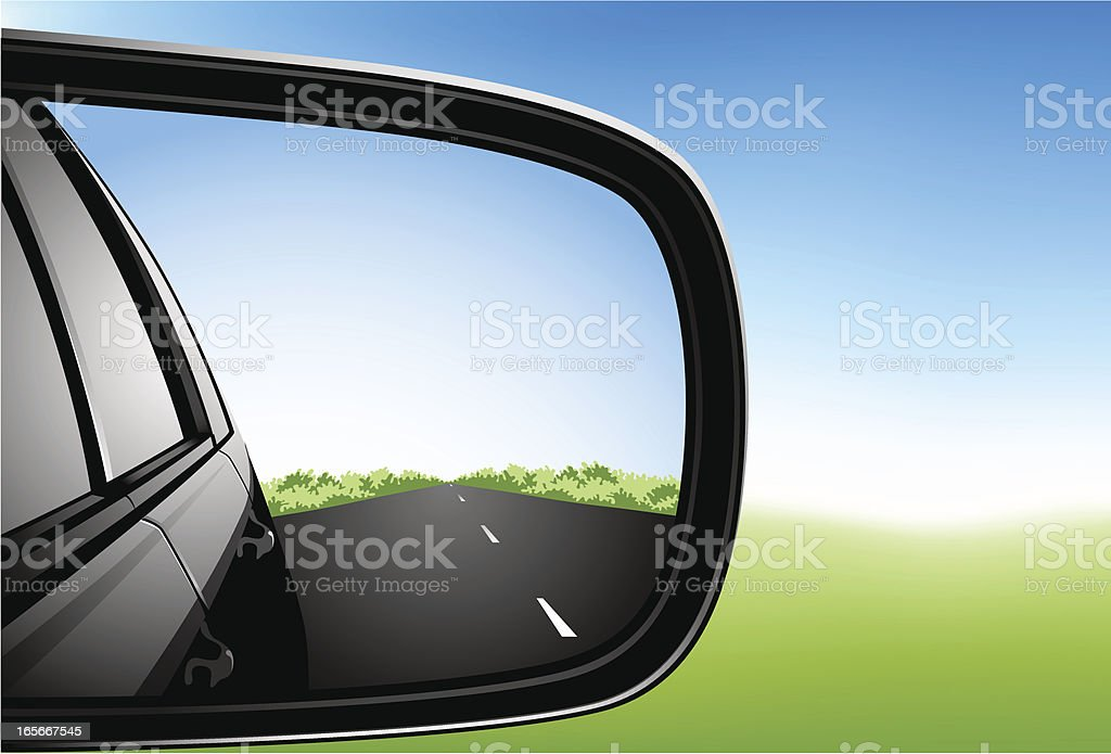 Car Side Mirror royalty-free stock vector art