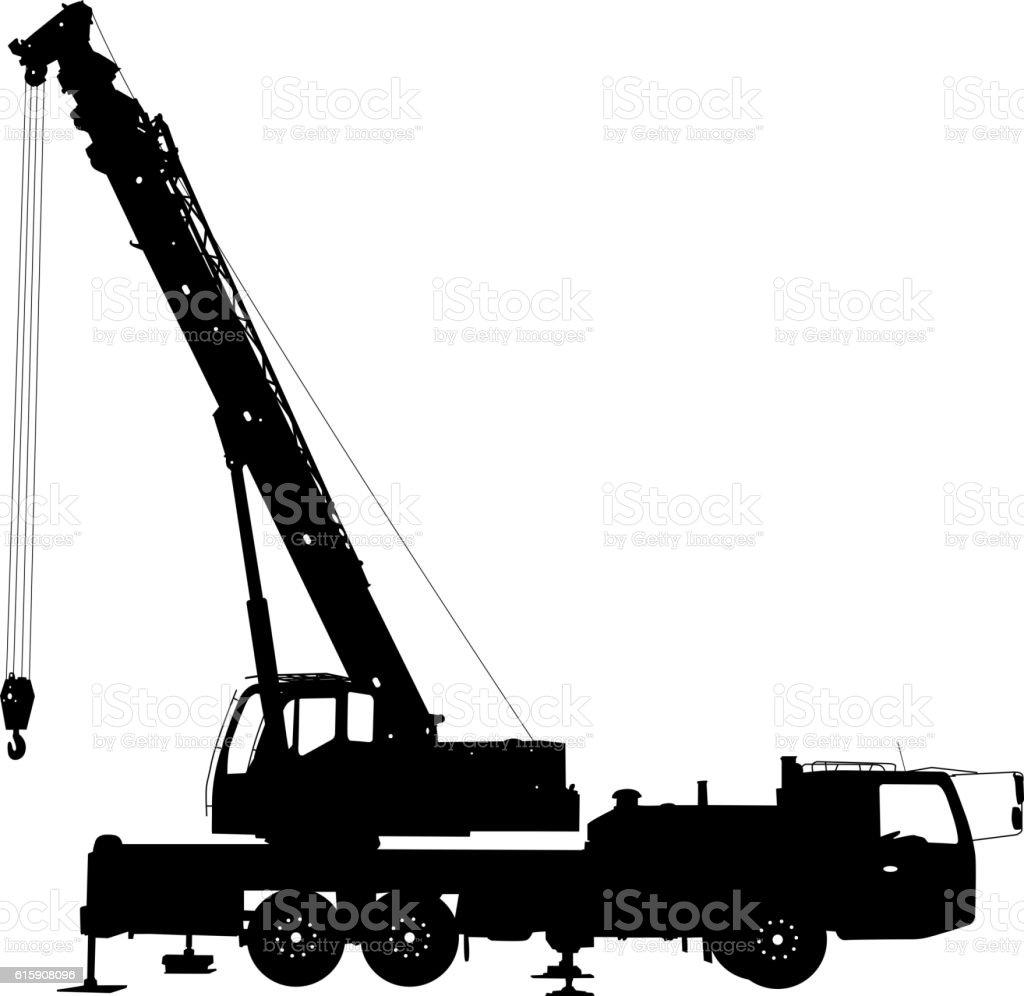 car silhouette construction crane vector illustration stock vektor art und  mehr bilder von ausrüstung und geräte - istock  istock