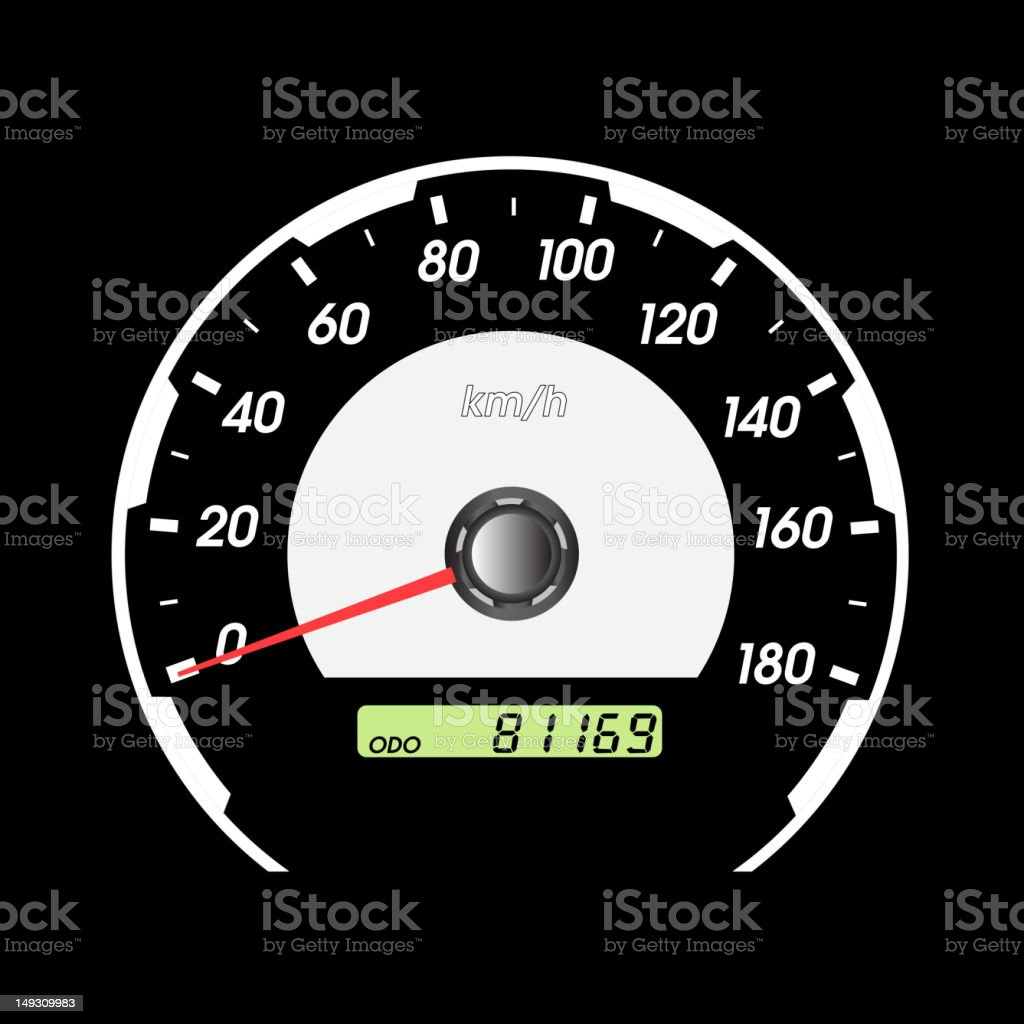 car speedometer royalty-free stock vector art