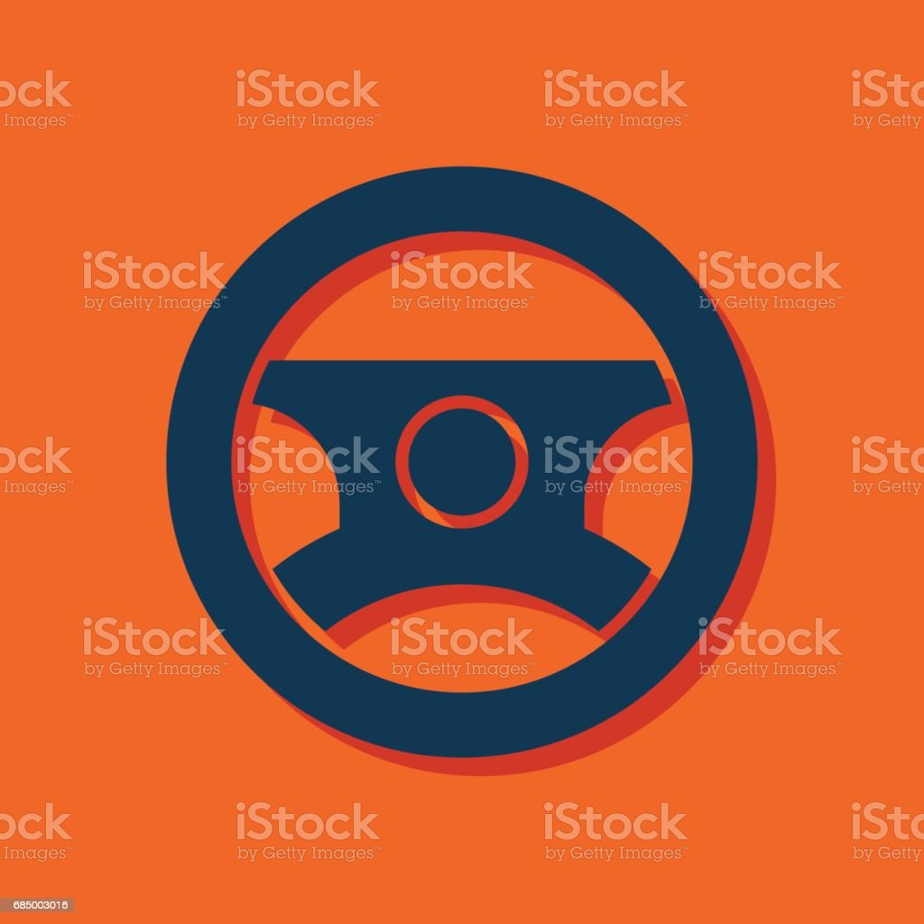 Auto Lenkrad Symbol Vektor Hmi Dashboard flach-Symbol Lizenzfreies auto lenkrad symbol vektor hmi dashboard flachsymbol stock vektor art und mehr bilder von armaturenbrett