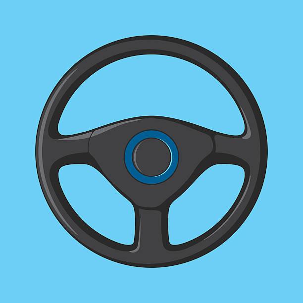 Car Steering Wheel Vector illustration of car steering wheel. steering wheel stock illustrations