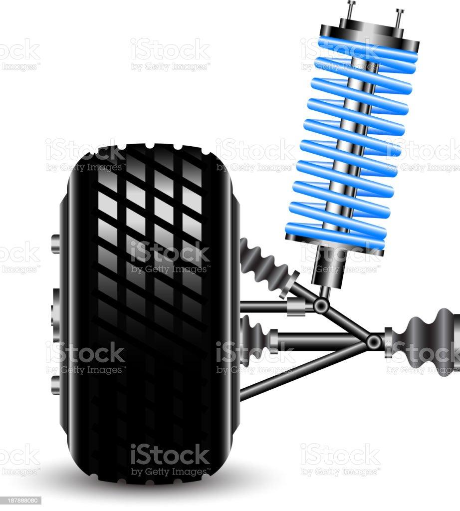 car suspension vector art illustration