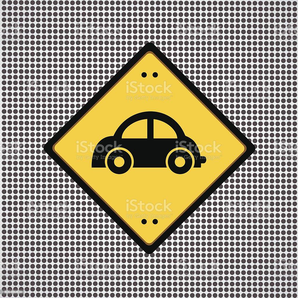 car symbol vector art illustration