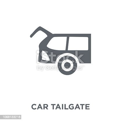 car tailgate icon. car tailgate design concept from Car parts collection. Simple element vector illustration on white background.
