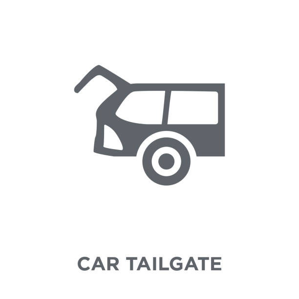 car tailgate icon from Car parts collection. car tailgate icon. car tailgate design concept from Car parts collection. Simple element vector illustration on white background. boot stock illustrations