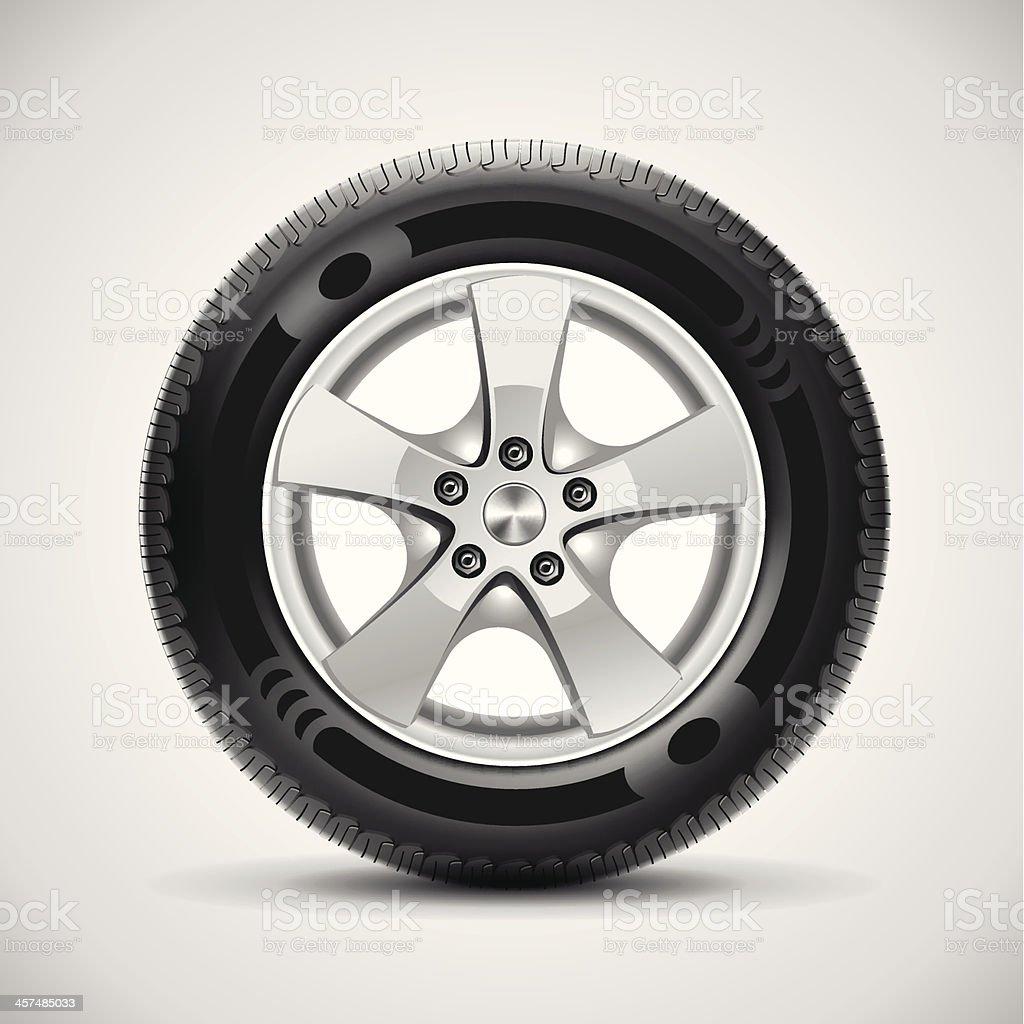 car tire, vector vector art illustration