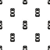 car top, vector seamless pattern