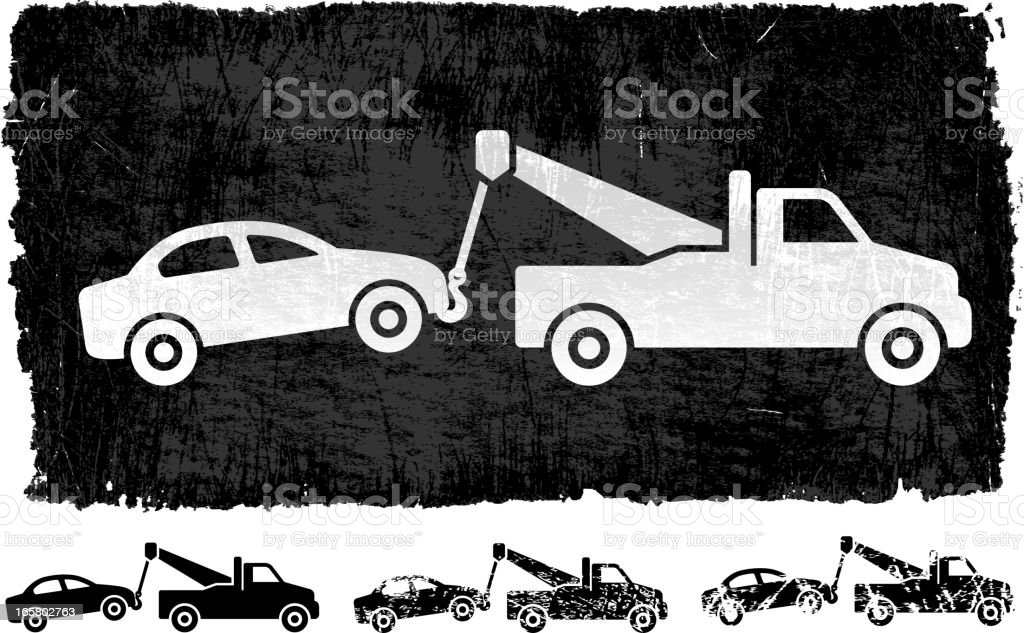 Car Tow on royalty free vector Background vector art illustration