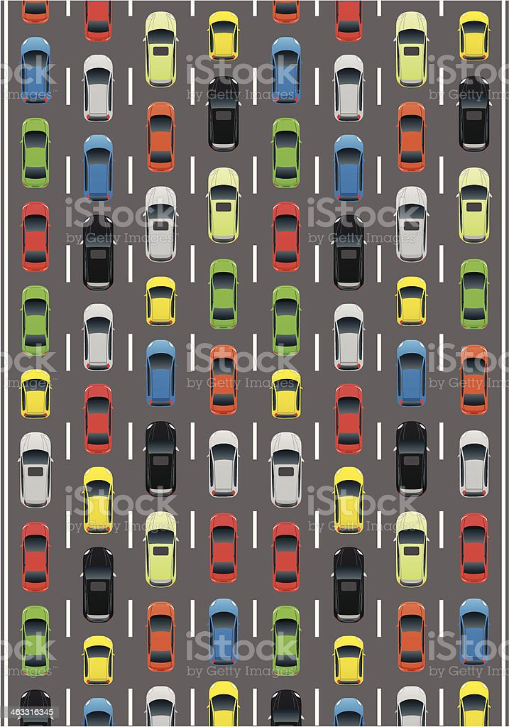 Car Traffic vector art illustration