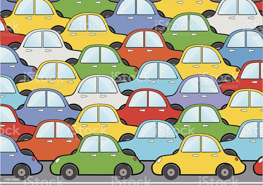 Car Traffic royalty-free stock vector art