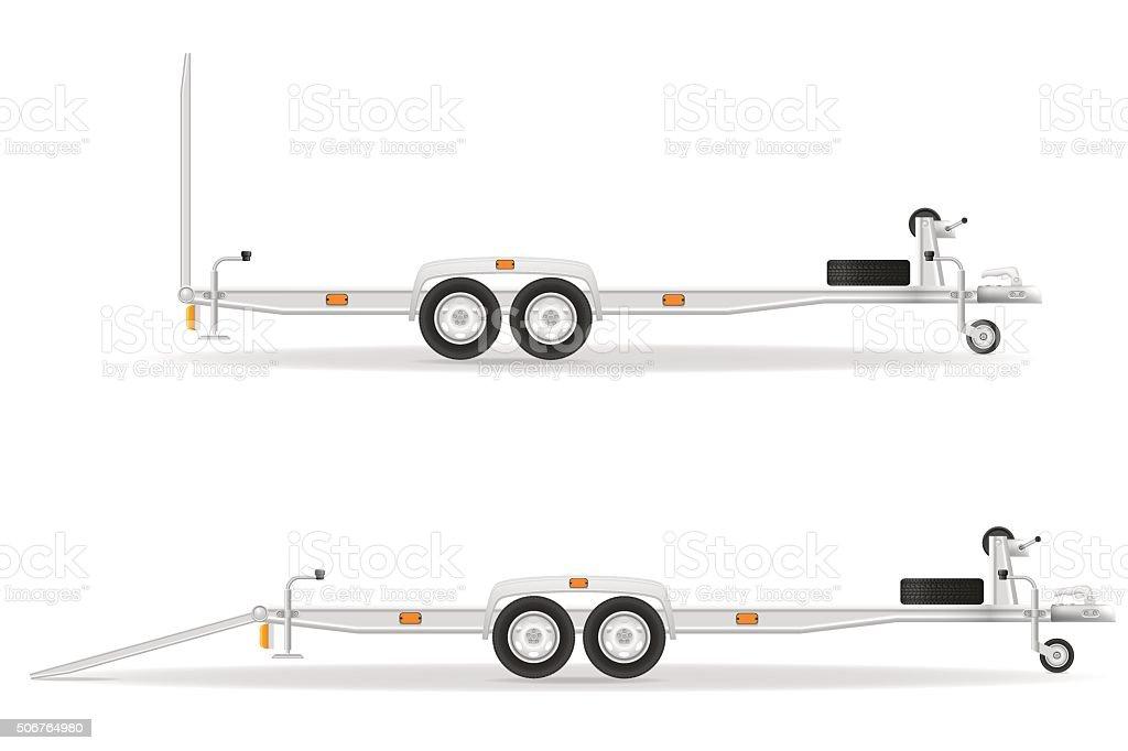 car trailer for transportation vehicles vector illustration vector art illustration