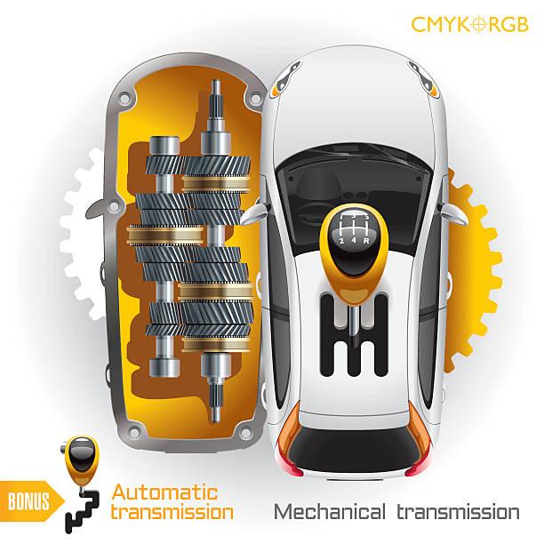 Car Transmission vector art illustration
