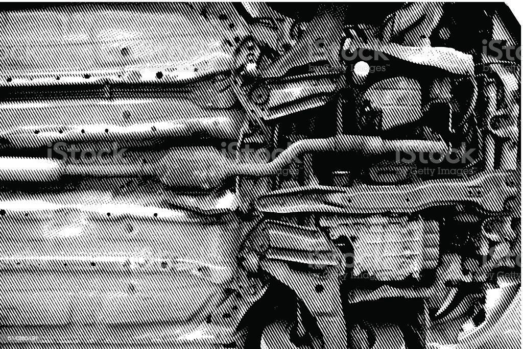 Auto der Unterseite – Vektorgrafik