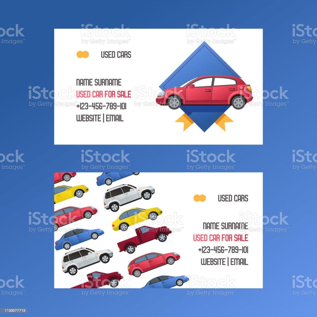 Mietwagen Visitenkarten Mietwagen Auto Auto Auto Minivan Und