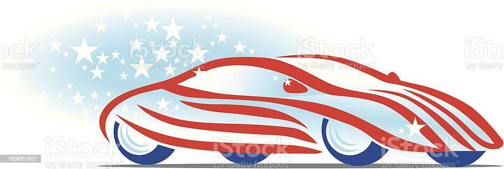 royalty free american flag car clip art vector images rh istockphoto com usa flag clipart vector american flag clipart vector