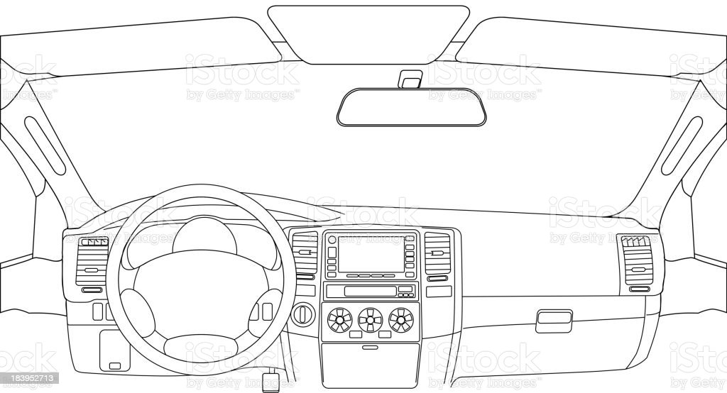 Dem Auto – Vektorgrafik