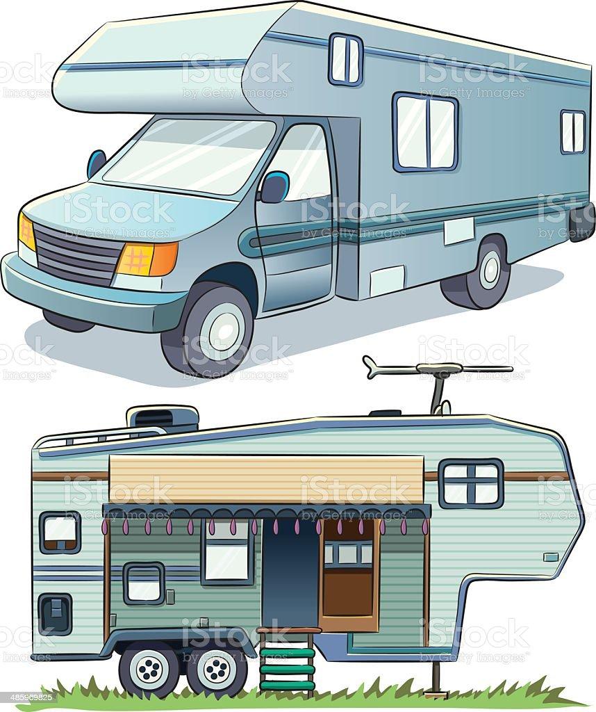 RV Car vector art illustration