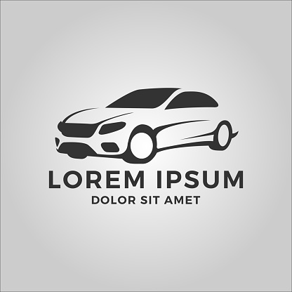 car vector logo. fit for automotive, repair, transportation, or car shop logo. flat color style