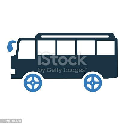 istock Car, vehicle, bus icon. Simple vector on isolated white background 1269161325
