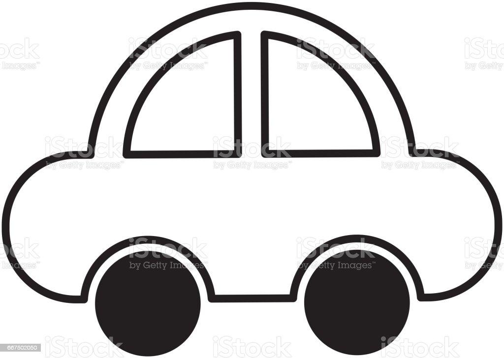 car vehicle isolated icon car vehicle isolated icon - immagini vettoriali stock e altre immagini di antico - vecchio stile royalty-free