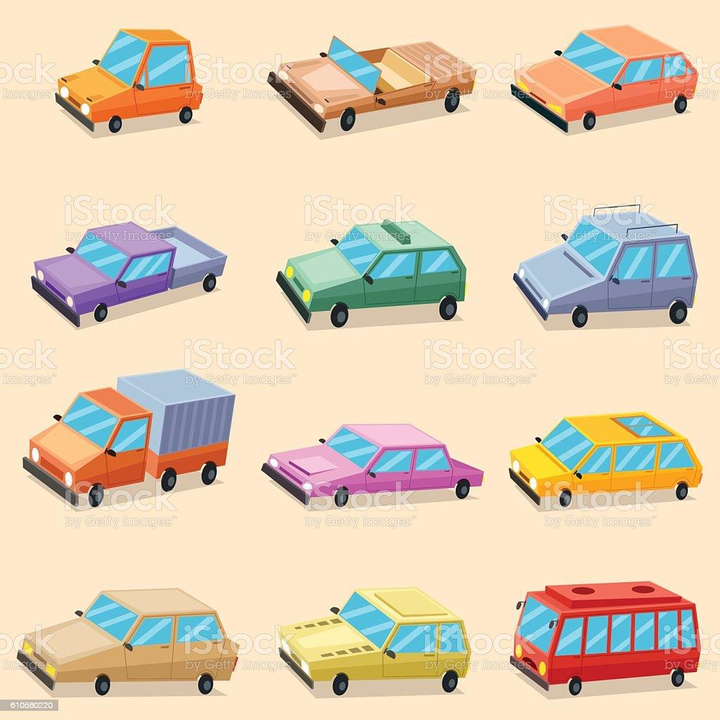Car Vehicle Transportation Icons vector art illustration
