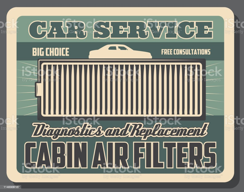 Car ventilation system, cabin air cleaning filter