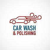 Car wash and polishing symbol.