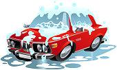 Car Wash Cartoon Symbol Vector