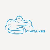 car wash emblem, use for car washing company