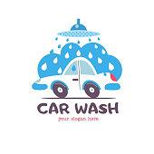 Car wash. Emblem