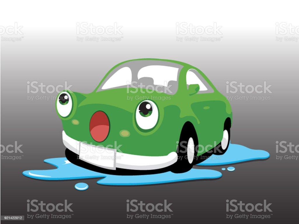 car wash green. vector illustration