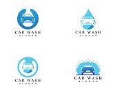 Car wash icon logo design vector template