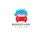 Car wash icon logo template