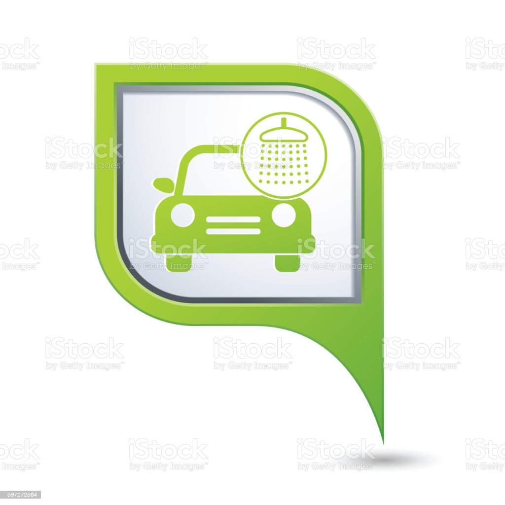 Car wash icon on map pointer royalty-free car wash icon on map pointer stock vector art & more images of car