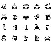 Car wash icon set , vector illustration