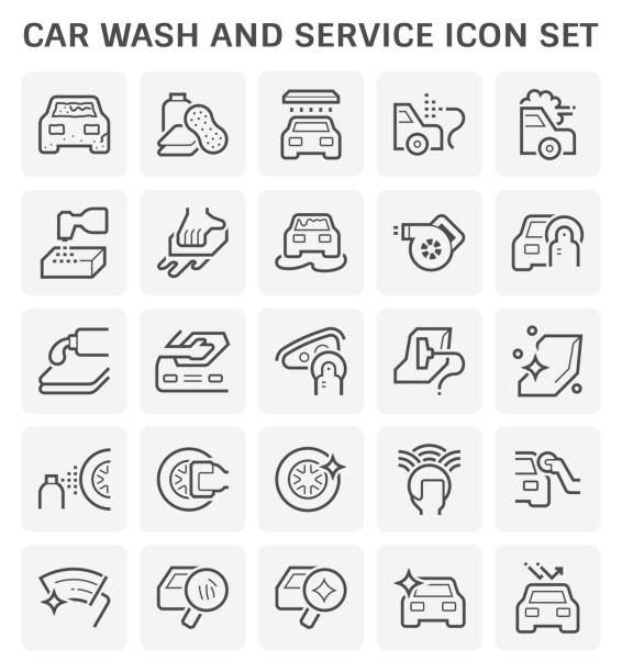 car wash icon - крупный план stock illustrations