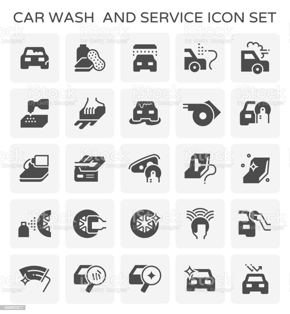 car wash icon vector art illustration