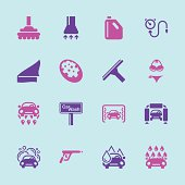 Car Wash Icons - Color Series | EPS10