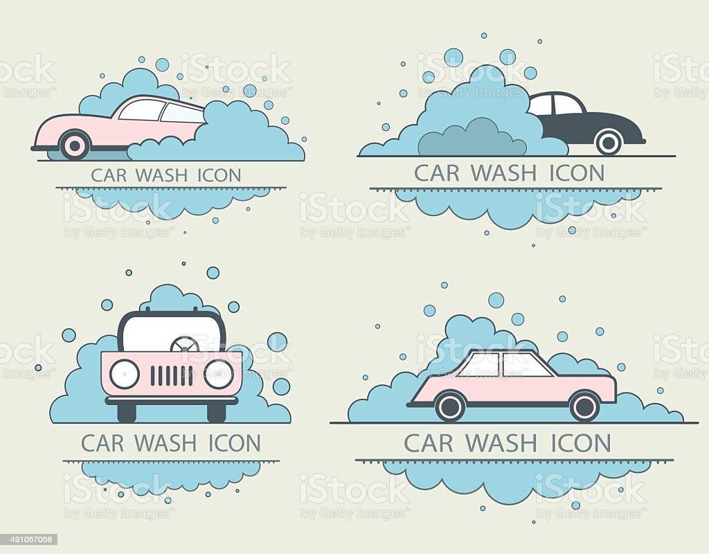 Car Wash Logo Design Layout Corporate Vector Symbol Concept Flat ...