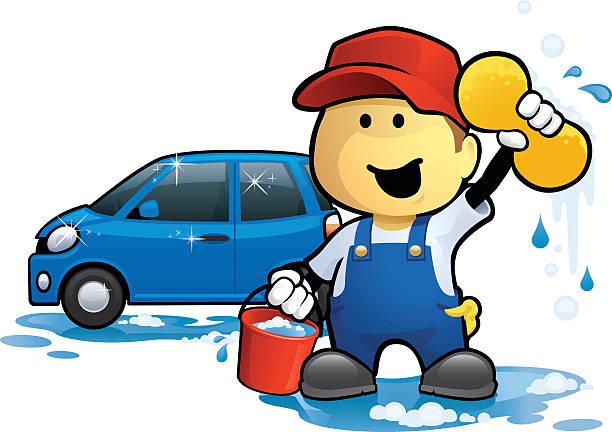 royalty free hand car wash clip art vector images illustrations