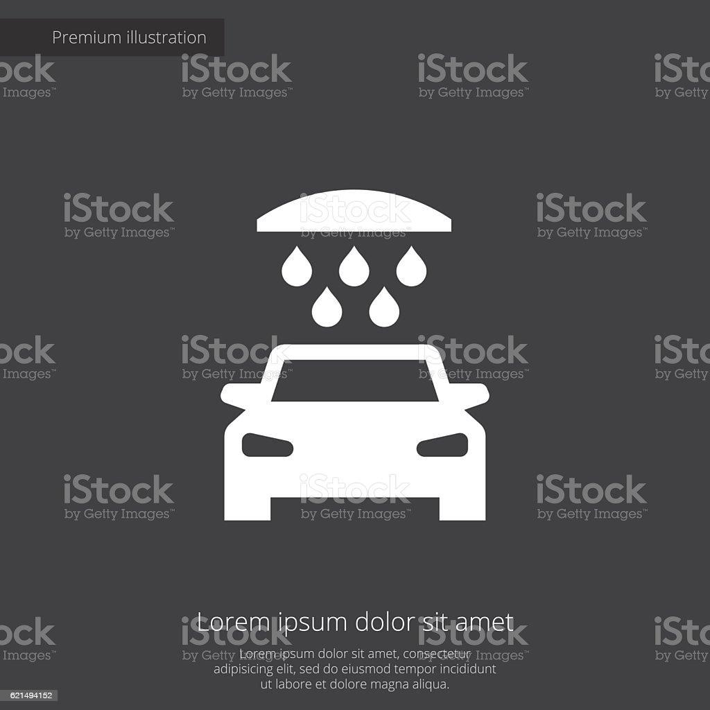 car wash premium illustration icon