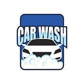 car wash service logo, vector illustration