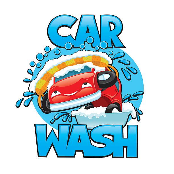 Royalty Free Car Wash Drip Cartoon Clip Art, Vector Images