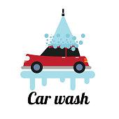 car wash. eps 10 vector file