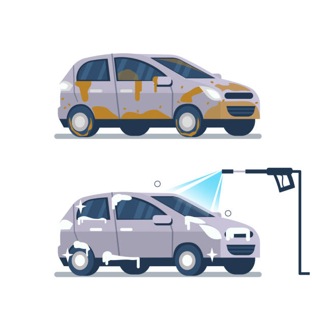 Best Pressure Washing Illustrations Royalty Free Vector