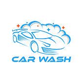 Car Wash  Vector Illustration template. Trendy Car Wash vector  icon silhouette design. Car Auto Cleaning  vector illustration for car detailing and car wash service.