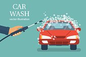 Car wash. vector