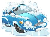 Car Wash Vehicle Cartoon Vector