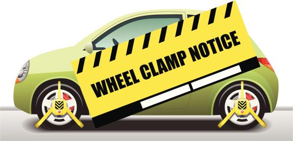Car Wheel Clamp Notice