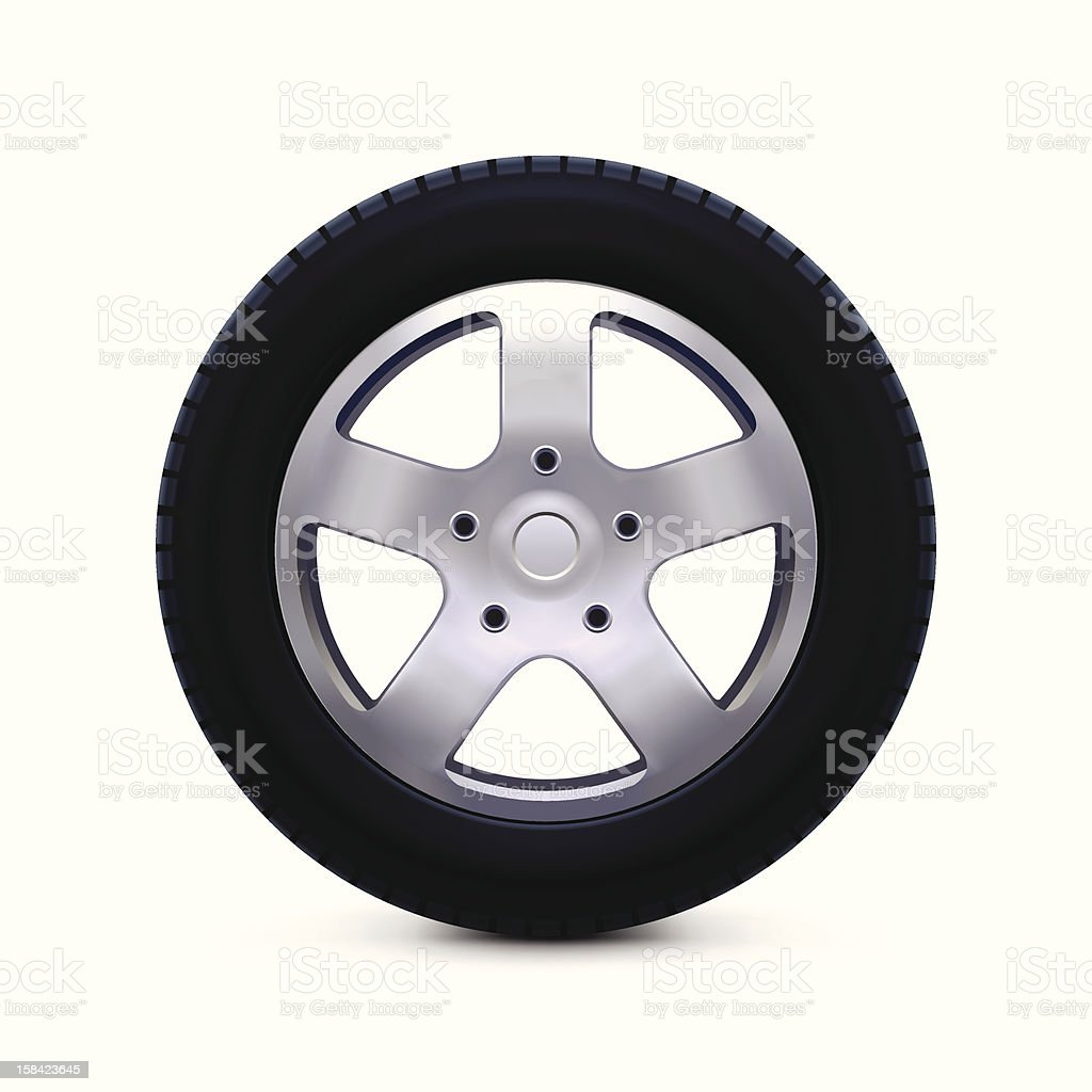 Car Wheel Icon vector art illustration